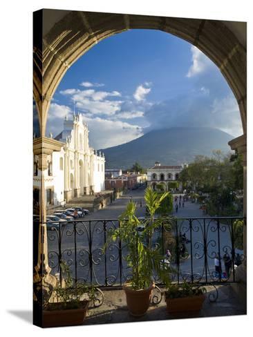 Parque Central, Antigua, Guatemala, Central America-Ben Pipe-Stretched Canvas Print