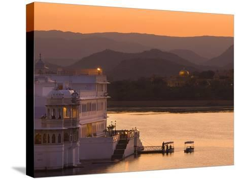Lake Palace Hotel, Udaipur, Rajasthan, India, Asia-Ben Pipe-Stretched Canvas Print