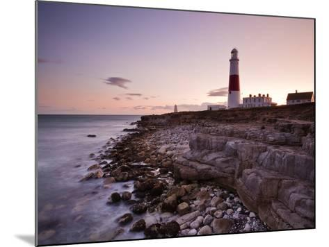 Portland Bill Lighthouse at Sunset, Dorset, England, United Kingdom, Europe-Julian Elliott-Mounted Photographic Print