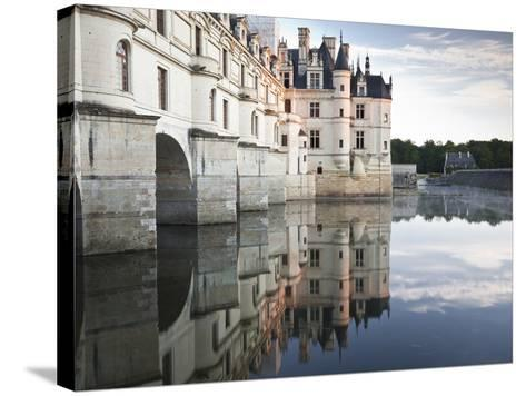 The Chateau of Chenonceau Reflecting in the Waters of the River Cher, UNESCO World Heritage Site, I-Julian Elliott-Stretched Canvas Print