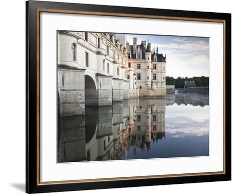 The Chateau of Chenonceau Reflecting in the Waters of the River Cher, UNESCO World Heritage Site, I-Julian Elliott-Framed Art Print
