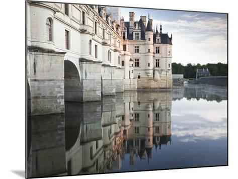 The Chateau of Chenonceau Reflecting in the Waters of the River Cher, UNESCO World Heritage Site, I-Julian Elliott-Mounted Photographic Print