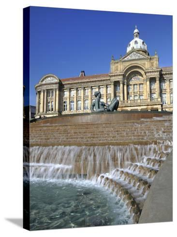 Fountain known as the Floozy in the Jacuzzi and the Council House, Victoria Square, Birmingham, Wes-Chris Hepburn-Stretched Canvas Print
