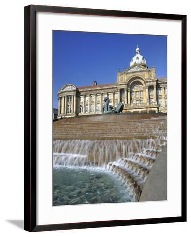 Fountain known as the Floozy in the Jacuzzi and the Council House, Victoria Square, Birmingham, Wes-Chris Hepburn-Framed Art Print