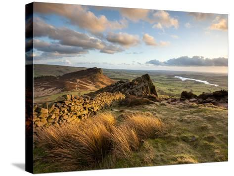 Sunset at the Roaches Including Tittesworth Reservoir, Staffordshire Moorlands, Peak District Natio-Chris Hepburn-Stretched Canvas Print