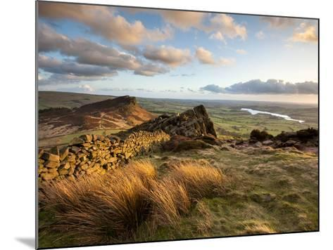 Sunset at the Roaches Including Tittesworth Reservoir, Staffordshire Moorlands, Peak District Natio-Chris Hepburn-Mounted Photographic Print