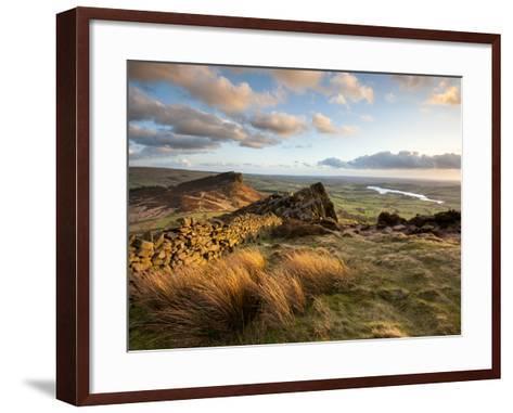 Sunset at the Roaches Including Tittesworth Reservoir, Staffordshire Moorlands, Peak District Natio-Chris Hepburn-Framed Art Print