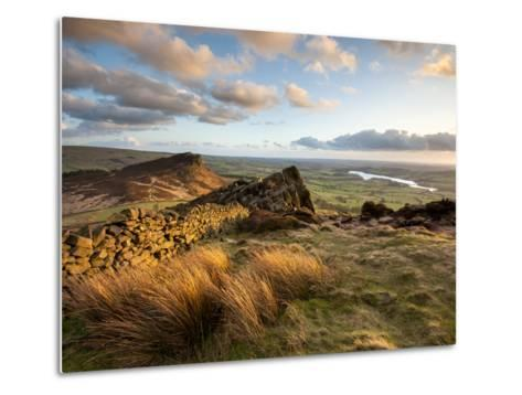 Sunset at the Roaches Including Tittesworth Reservoir, Staffordshire Moorlands, Peak District Natio-Chris Hepburn-Metal Print