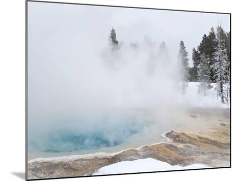 West Thumb Geyser Basin Winter Landscape with Geothermal Spring, Yellowstone National Park, UNESCO -Kimberly Walker-Mounted Photographic Print