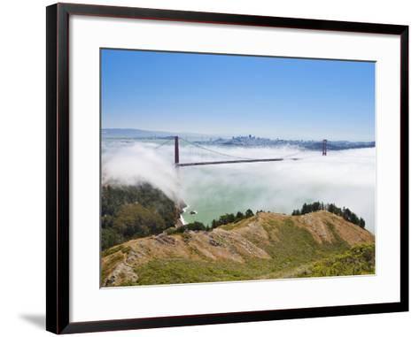 Golden Gate Bridge and the San Francisco Skyline Floating Above the Fog on a Foggy Day in San Franc-Gavin Hellier-Framed Art Print