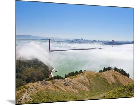 Golden Gate Bridge and the San Francisco Skyline Floating Above the Fog on a Foggy Day in San Franc-Gavin Hellier-Mounted Photographic Print
