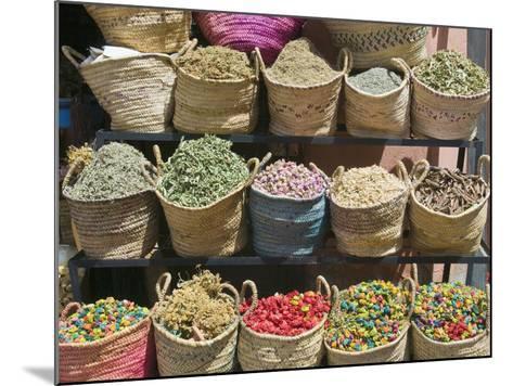 Spices for Sale, Souk in the Medina, Marrakech (Marrakesh), Morocco-Nico Tondini-Mounted Photographic Print