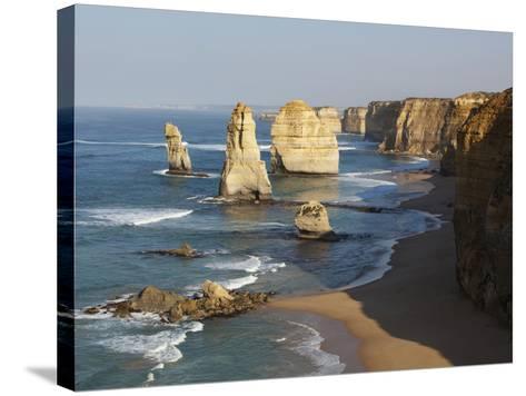 Morning Sun Lights Twelve Apostles, Tasman Sea, Port Campbell National Park, Victoria, Australia-Paul Souders-Stretched Canvas Print