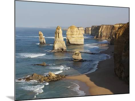Morning Sun Lights Twelve Apostles, Tasman Sea, Port Campbell National Park, Victoria, Australia-Paul Souders-Mounted Photographic Print