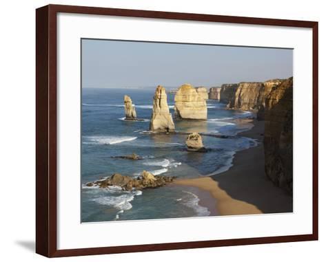 Morning Sun Lights Twelve Apostles, Tasman Sea, Port Campbell National Park, Victoria, Australia-Paul Souders-Framed Art Print
