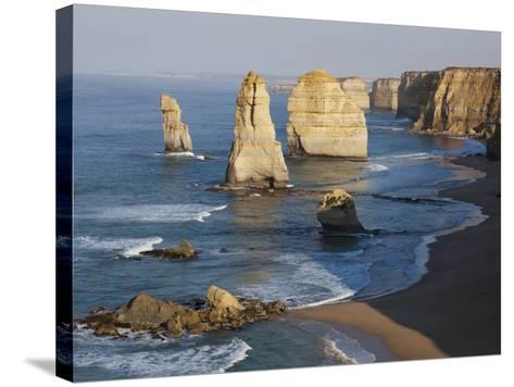 Morning Sun on Twelve Apostles, Tasman Sea, Port Campbell National Park, Victoria, Australia-Paul Souders-Stretched Canvas Print