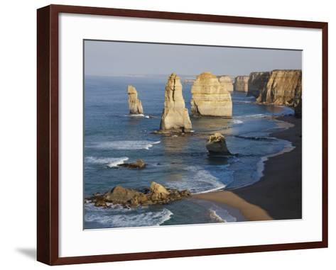 Morning Sun on Twelve Apostles, Tasman Sea, Port Campbell National Park, Victoria, Australia-Paul Souders-Framed Art Print