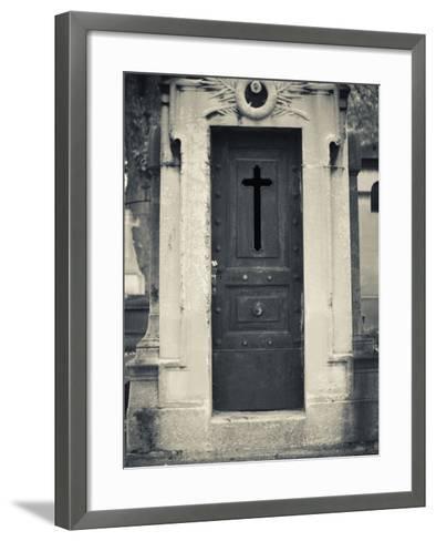 Cemetery Detail, Montparnasse Cemetery, Paris, France-Walter Bibikow-Framed Art Print