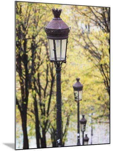 Autumn, Rue De Foyatier Steps to the Place Du Sacre Coeur, Montmartre, Paris, France-Walter Bibikow-Mounted Photographic Print