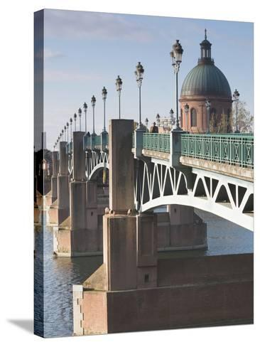 Dome of the Hopital De La Grave and Pont St-Pierre Bridge, Toulouse, Midi-Pyrenees Region, France--Stretched Canvas Print