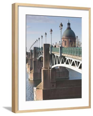 Dome of the Hopital De La Grave and Pont St-Pierre Bridge, Toulouse, Midi-Pyrenees Region, France--Framed Art Print