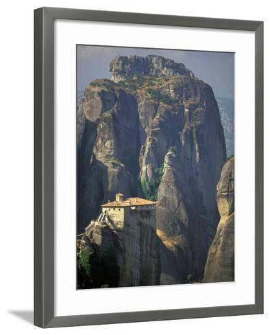 Roussanou Monastery, Meteora, Monasteries of Meteora, Thessaly, Greece-Walter Bibikow-Framed Art Print