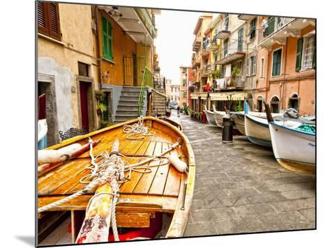 Fishing Boats in Manarola, Cinque Terre, Tuscany, Italy-Richard Duval-Mounted Photographic Print