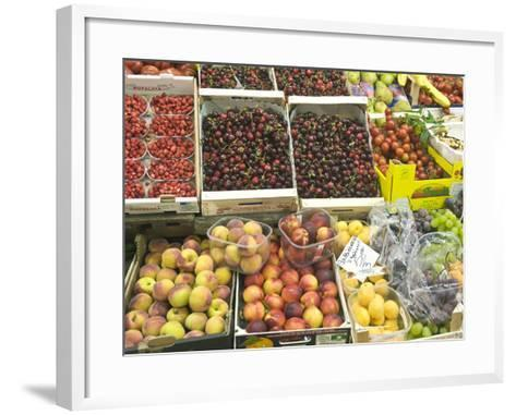 Fruit and Vegetables for Sale at Market, Florence, Tuscany, Italy-Rob Tilley-Framed Art Print