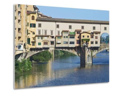 Ponte Vecchio at Sunrise, Florence, Tuscany, Italy-Rob Tilley-Metal Print