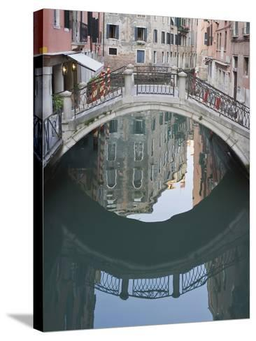 Canal and Reflection, Venice, Italy-Rob Tilley-Stretched Canvas Print