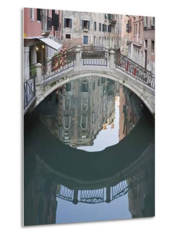 Canal and Reflection, Venice, Italy-Rob Tilley-Metal Print