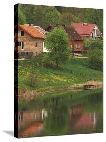Spring Scene, Rapaty Village, Marmia and Masuria, Poland-Walter Bibikow-Stretched Canvas Print