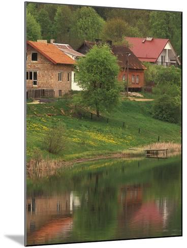Spring Scene, Rapaty Village, Marmia and Masuria, Poland-Walter Bibikow-Mounted Photographic Print