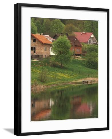 Spring Scene, Rapaty Village, Marmia and Masuria, Poland-Walter Bibikow-Framed Art Print