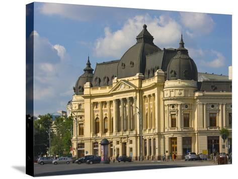 National Library, Bucharest, Romania-Keren Su-Stretched Canvas Print