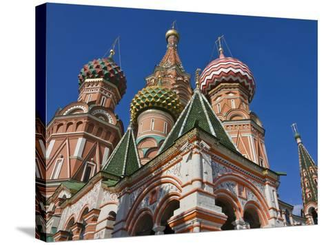 St. Basil's Cathedral in Red Square, Moscow, Russia-Keren Su-Stretched Canvas Print