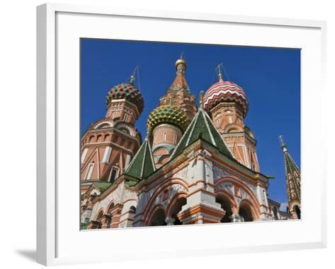 St. Basil's Cathedral in Red Square, Moscow, Russia-Keren Su-Framed Art Print