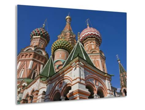 St. Basil's Cathedral in Red Square, Moscow, Russia-Keren Su-Metal Print