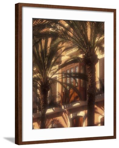 Building and Palms, Eivissa, Ibiza, Balearics, Spain-Walter Bibikow-Framed Art Print