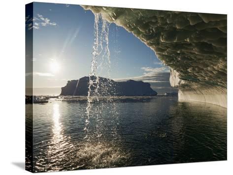 Midnight Sun Lights Iceberg, Jakobshavn Glacier, Disko Bay, Ilulissat, Greenland-Paul Souders-Stretched Canvas Print
