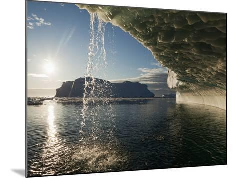 Midnight Sun Lights Iceberg, Jakobshavn Glacier, Disko Bay, Ilulissat, Greenland-Paul Souders-Mounted Photographic Print