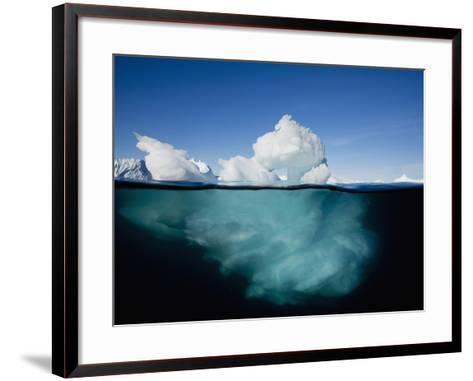 Underwater Image of Icebergs Floating Near Face of Jakobshavn Isfjord, Ilulissat, Greenland-Paul Souders-Framed Art Print
