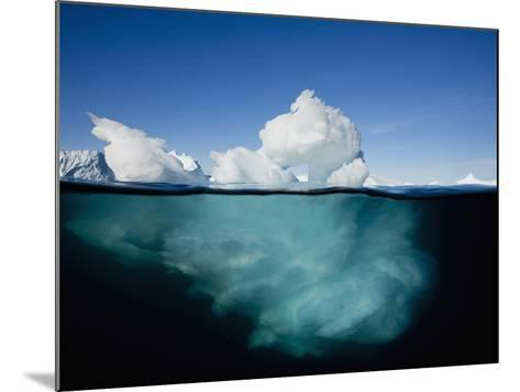 Underwater Image of Icebergs Floating Near Face of Jakobshavn Isfjord, Ilulissat, Greenland-Paul Souders-Mounted Photographic Print