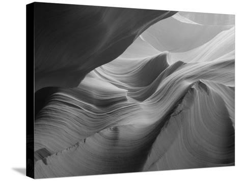 Sunlight Filters Down Carved Red Sandstone Walls of Lower Antelope Canyon, Page, Arizona, Usa-Paul Souders-Stretched Canvas Print