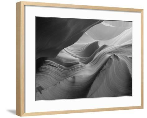 Sunlight Filters Down Carved Red Sandstone Walls of Lower Antelope Canyon, Page, Arizona, Usa-Paul Souders-Framed Art Print
