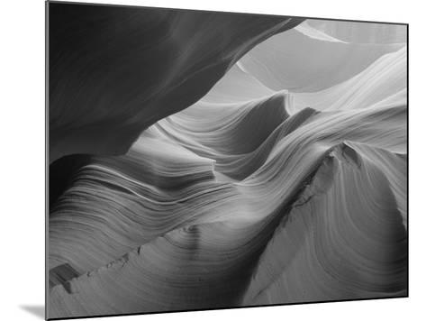 Sunlight Filters Down Carved Red Sandstone Walls of Lower Antelope Canyon, Page, Arizona, Usa-Paul Souders-Mounted Photographic Print