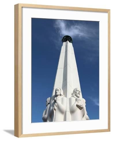 A Closed Up View of Astronomers Monument at Griffith Observatory, Los Angeles, California, Usa-Bruce Yuanyue Bi-Framed Art Print