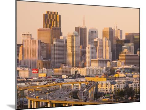View of Downtown and I-280 Highway, Potrero Hill, San Francisco, California, Usa-Walter Bibikow-Mounted Photographic Print