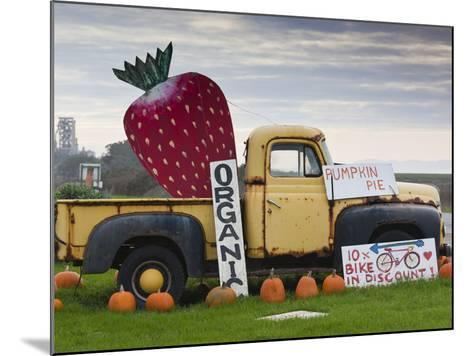 Route 1, Old Pickup Truck at Roadside Fruit Stand, Swanton, Central Coast, California, Usa-Walter Bibikow-Mounted Photographic Print
