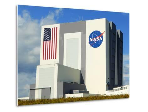 Vab Building at Sunrise, Cape Canaveral, Ksc, Titusville, Florida, Usa-Maresa Pryor-Metal Print